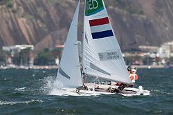 Rio 2016, Brazil Rio de Janeiro  August 2016 Guanabara Bay, 470 women racing during the Rio 2016 Olympic Games racing during the Rio 2016 Olympic Games