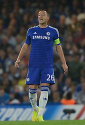 Chelsea's John Terry makes his 99th champions league appearance  - Photo mandatory by-line: Joe Meredith/JMP - Mobile: 07966 386802 - 17/09/2014 - SPORT - FOOTBALL - London - Stamford Bridge - Chelsea v Schalke 04 - Champions League Group Stage