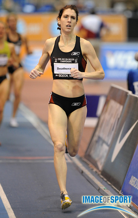 Feb 23, 2008; Boston, MA, USA; Jenelle Deatherage was second in the women's 1,500m in 4:17.38 in the AT&T USA Track & Field Indoor Championships at the Reggie Lewis Center.