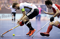 BERLIN - Indoor Hockey World Cup<br /> Final: Germany - Austria<br /> foto: Martin H&auml;ner.<br /> WORLDSPORTPICS COPYRIGHT FRANK UIJLENBROEK