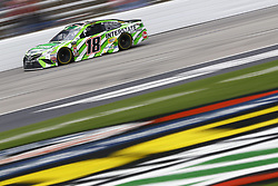 April 8, 2018 - Ft. Worth, Texas, United States of America - April 08, 2018 - Ft. Worth, Texas, USA: Kyle Busch (18) brings his race car down the front stretch during the O'Reilly Auto Parts 500 at Texas Motor Speedway in Ft. Worth, Texas. (Credit Image: © Chris Owens Asp Inc/ASP via ZUMA Wire)