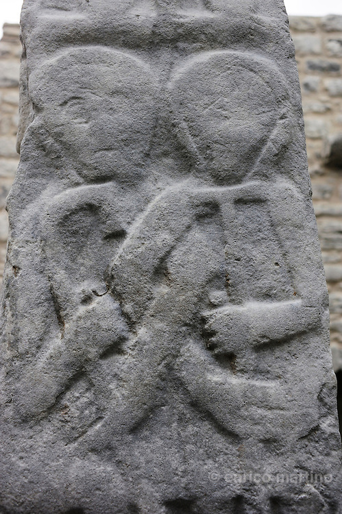 "Kilfenora cathedral, the transept with the ""Doorty Cross""."