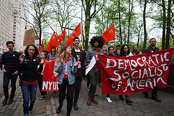 May 1, 2019 - New York Cty, New York, United States - 'May Day protesters' march from Columbus Circle to the 5th Ave at a Manhattan protest on the International Workers' Day, May 1, 2019, in New York. (Credit Image: © Selcuk Acar/NurPhoto via ZUMA Press)