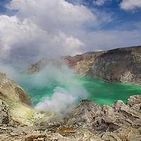 Cratere du Kawah Ijen, Java, Indonesia