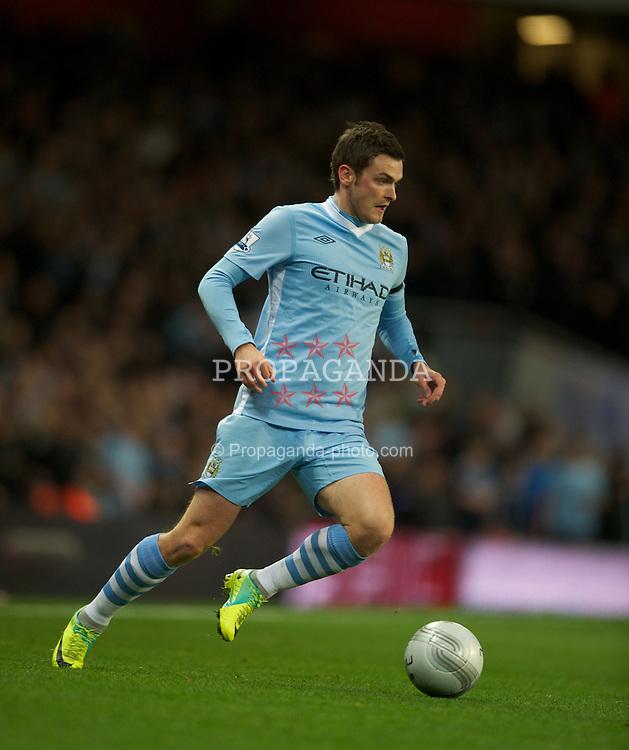 LONDON, ENGLAND - Tuesday, November 29, 2011: Manchester City's Adam Johnson in action during the Football League Cup Quarter-Final match at the Emirates Stadium. (Pic by Chris Brunskill/Propaganda)