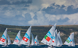 Star class downwind<br /> <br /> 2012 Olympic Games <br /> London / Weymouth