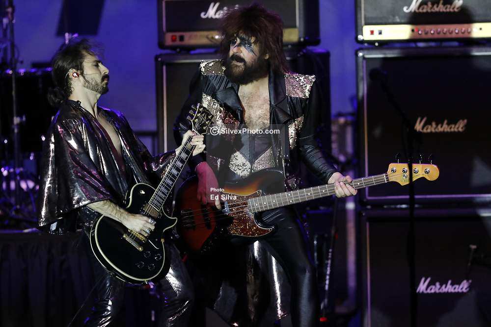 LONG BEACH, CA - APRIL 7  Mexican rock band Moderatto perform onstage during the 2017 Toyota Grand Prix of Long Beach. 2017 April 7.  Byline, credit, TV usage, web usage or linkback must read SILVEXPHOTO.COM. Failure to byline correctly will incur double the agreed fee. Tel: +1 714 504 6870.