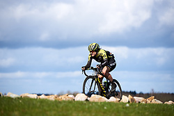 Grace Brown (AUS) leads solo the final time over the VAMberg at Ronde van Drenthe 2019, a 165.7 km road race from Zuidwolde to Hoogeveen, Netherlands on March 17, 2019. Photo by Sean Robinson/velofocus.com