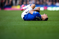 Richarlison of Everton looks in pain after picking up an injury - Mandatory by-line: Robbie Stephenson/JMP - 01/03/2020 - FOOTBALL - Goodison Park - Liverpool, England - Everton v Manchester United - Premier League