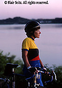 Bicycling, Pennsylvania, Outdoor recreation, Biking in PA, Female Biker Portrait, Susquehanna River