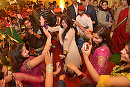 Bridesmaids dancing at Indian Wedding,Bharatpur,Rajasthan,India