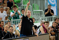 Bozidar Maljkovic, coach of Slovenia during friendly match before Eurobasket Lithuania 2011 between National teams of Slovenia and Lithuania, on August 24, 2011, in Arena Stozice, Ljubljana, Slovenia. Slovenia defeated Lithuania 88-66. (Photo by Vid Ponikvar / Sportida)