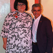 London, England,UK. 4th Nov 2016: Sadiq Khan,Amy Lame attends Amy Lame as UK first-ever Night Czar at 100 Club,London,UK. Photo by See Li