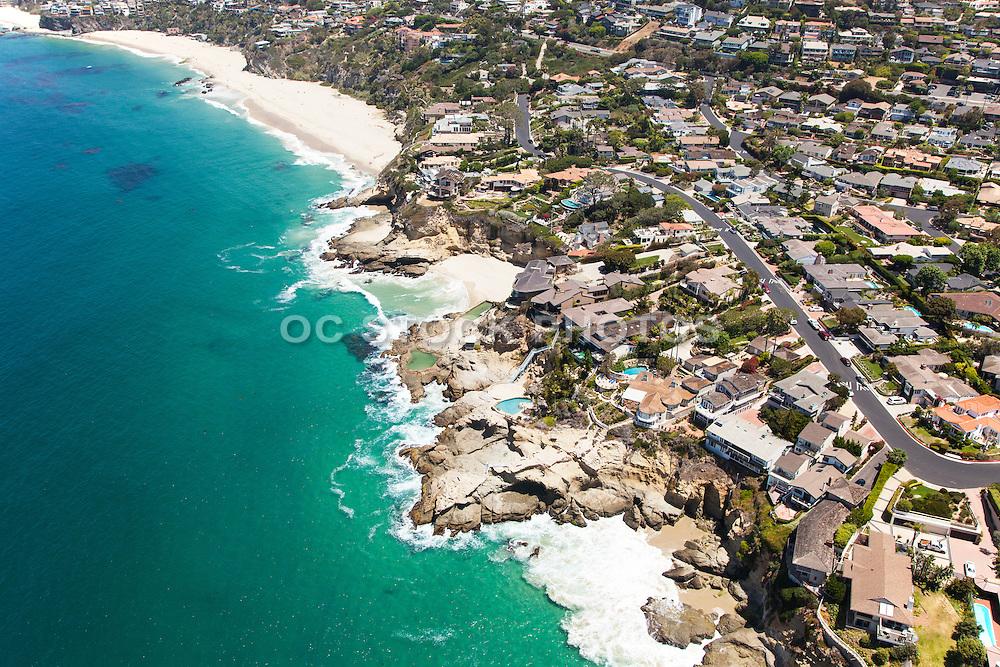 Aerial Stock Photos of Laguna Beach Coastline and Community