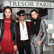 Naeem Mahmood, Bloom Twins arrives at Tresor Paris In2ruders - launch at Tresor Paris, 7 Greville Street, Hatton Garden, London, UK 13th September 2018.