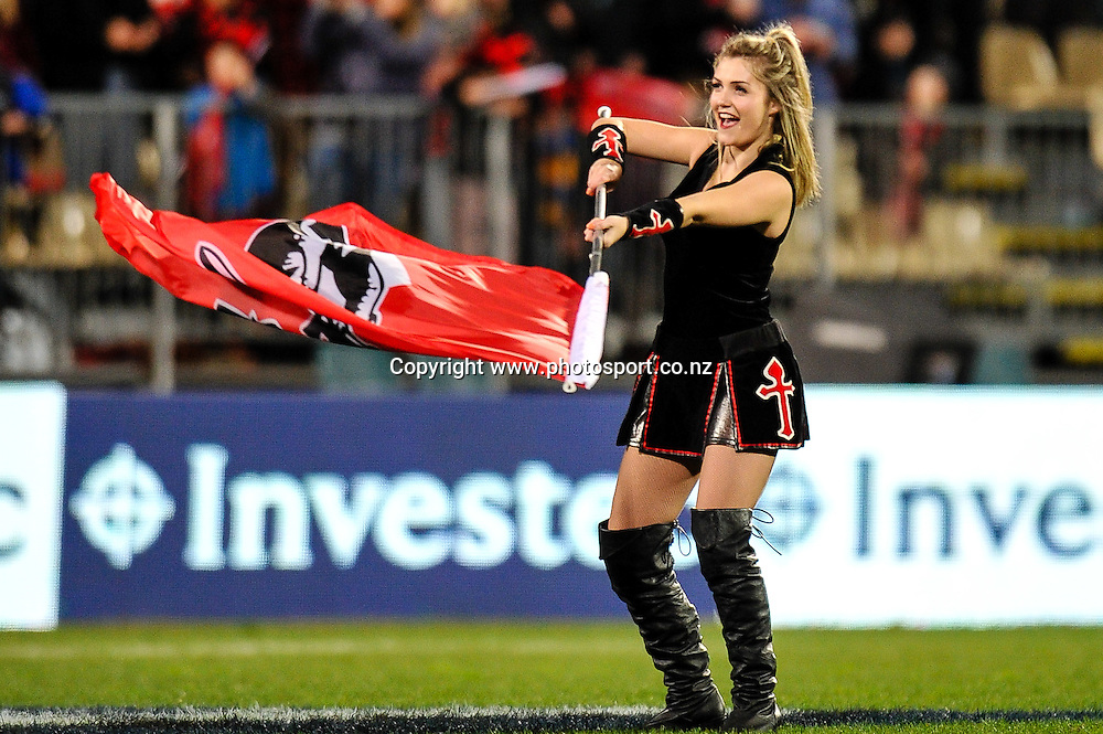 A maiden in the Super Rugby match,  Crusaders v Highlanders, at AMI Stadium, Christchurch, on the 12 July 2014 . Photo:John Davidson/www.photosport.co.nz