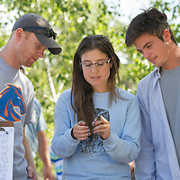 IBO, Boise River, Murdock grant recipient Steve DeMers, Boise State Students Elizeth Cinto Mejia, Michael Brownlee, Nate Acevedo,   John Kelly photo