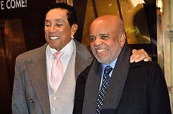 © Licensed to London News Pictures. 08/03/2016. SMOKEY ROBINSON and Motown owner BERRY GORDY attend the Motown The Musical press night. Motown hits featured in the production include Dancing In The Street, I Heard It Through The Grapevine and My Girl. London, UK. Photo credit: Ray Tang/LNP