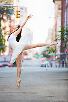 Streets of New York City Dance As Art Photography Project in Tribeca featuring dancer, Shoko Fujita.