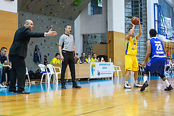 Keselj Igor head coach and Blazevic Anel of KK Sencur GGD during basketball match between KK Sencur  GGD and KK Tajfun Sentjur for Spar cup 2016, on 16th of February , 2016 in Sencur, Sencur Sports hall, Slovenia. Photo by Grega Valancic / Sportida.com
