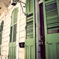 Front doors of a home in New Orleans