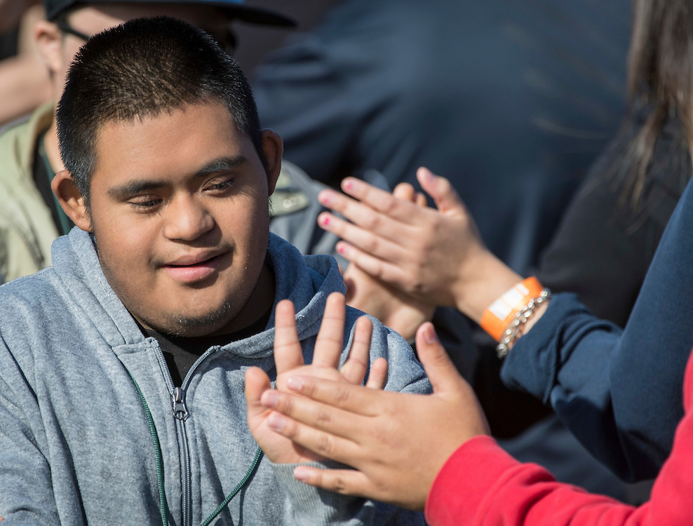 Houston ISD high school students participate in a Special Olympics Field Day at Butler Stadium, November 10, 2016.