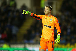 Jason Steele of Blackburn Rovers signals to his team mates - Mandatory by-line: Jason Brown/JMP - 04/04/2017 - FOOTBALL - Madejski Stadium - Reading, England - Reading v Blackburn Rovers - Sky Bet Championship