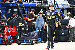 April 6, 2018 - Ft. Worth, Texas, United States of America - April 06, 2018 - Ft. Worth, Texas, USA: Trevor Bayne (6) hangs out in the garage during practice for the O'Reilly Auto Parts 500 at Texas Motor Speedway in Ft. Worth, Texas. (Credit Image: © Chris Owens Asp Inc/ASP via ZUMA Wire)