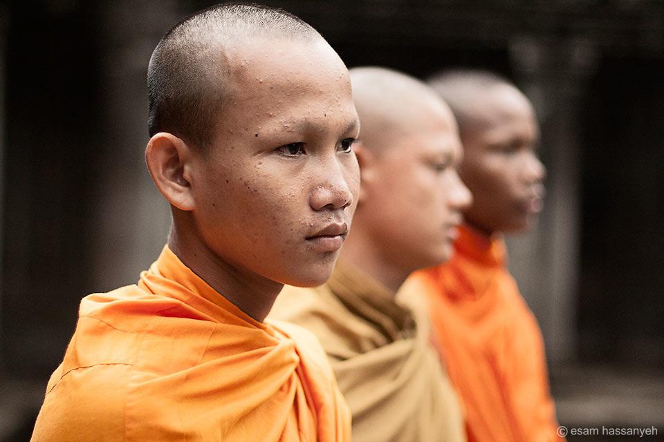 Young monks at Angkor Wat, Cambodia