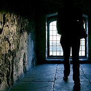 Castle silhouette, Dover, England (November 2007)