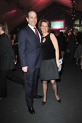 JOSEPH & ANTONELLA MIRO she was chair of the event at the KIDS 40th Birthday Gala Dinner held in the Boiler House at Battersea Power Station, London on 10th March 2011.