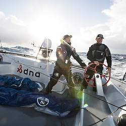 Jimmy Spithill and Emily Nagel sail F4 race yacht from New York to Bermuda with Team Falcon on November 7, 2016