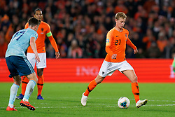 10-10-2019 NED: Netherlands - Northern Ireland, Rotterdam<br /> UEFA Qualifying round ­Group C match between Netherlands and Northern Ireland at De Kuip in Rotterdam / Frenkie de Jong #21 of the Netherlands