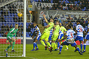 Sheffield United forward Conor Washington (39) thinks he's scored but its disallowed during the EFL Sky Bet Championship match between Reading and Sheffield United at the Madejski Stadium, Reading, England on 8 December 2018.