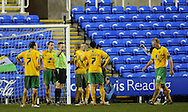 Reading - Saturday December 13th, 2008: Norwich City players look on as a penalty is given against them during the Coca Cola Championship match at The Madjeski Stadium, Reading. (Pic by Alex Broadway/Focus Images)