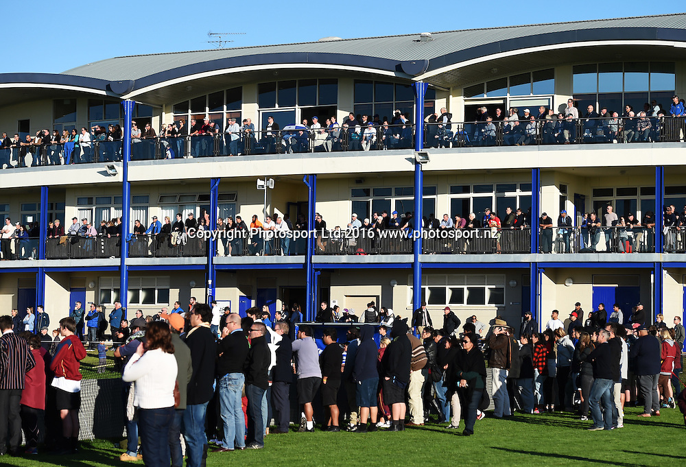 St Kents students and fans. Saint Kentigern College v Kings College. First XV Rugby Union. Saturday 2 July 2016. © Copyright Photo: Andrew Cornaga / www.Photosport.nz