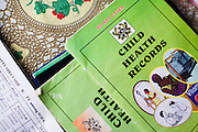 Child health records at the Osu Maternity Home in Accra, Ghana on Tuesday June 16, 2009.