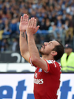 FUSSBALL   1. BUNDESLIGA   SAISON 2014/2015  RELEGATION  RUECKSPIEL  Karlsruher SC - Hamburger SV                              01.06.2015 Marcelo Diaz (lHamburger SV) jubelt nach dem 1:1
