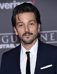Celebrities arrive at the 'Rogue One: A Star Wars Story' movie premiere in Hollywood, California. 10 Dec 2016 Pictured: Diego Luna. Photo credit: American Foto Features / MEGA TheMegaAgency.com +1 888 505 6342