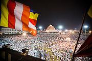 Buddhist pilgrims are gathered at the holy Deekshabhoomi Stupa to pay tribute to India's first Minister of Law and Justice Dr. Babasaheb Ambedkar, Nagpur, Maharashtra, India<br /> <br /> Photo by Christina Sjögren<br /> <br /> <br /> Pilgrimer samlas vid den helgia platsen Deekshabhoomi stupa för att hylla att Indiens första justitieminister Dr. Babasaheb Ambedkar<br /> Nagpur, Maharashtra, India