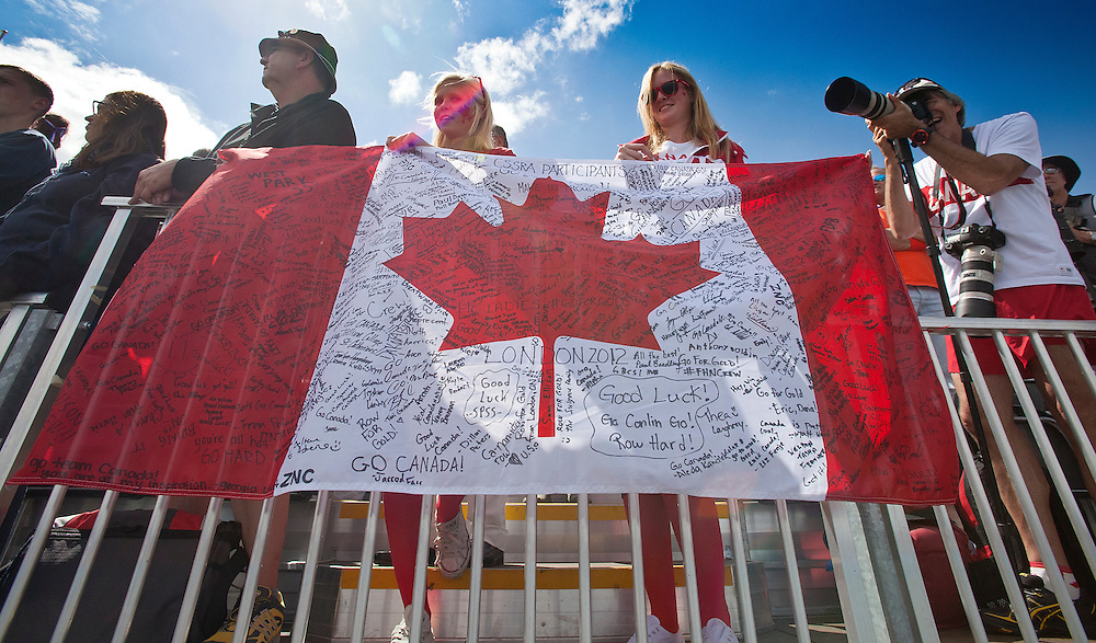 Rowing Canada London Olympics 2012 family friends fans celebration photo