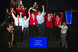 The 2017 SkillsUSA National Leadership and Skills Conference Competition Medalists were announced Friday, June 23, 2017 at Freedom Hall in Louisville.<br /> <br /> Collision Repair Technology	<br /> <br /> Alan Zimmerman<br />   High School	 Vanguard-Sentinel CTC-Sentinel Campus<br />   Gold	 Tiffin, OH<br /> Collision Repair Technology	David Fors<br />   High School	 Montachusett Regional Vo-Tech<br />   Silver	 Fitchburg, MA<br /> Collision Repair Technology	Tanner Fienen<br />   High School	 Franklin Technology Center<br />   Bronze	 Joplin, MO<br /> <br /> Collision Repair Technology<br /> <br /> 	Joel Hartstack<br />   College	 Southwestern Community College<br />   Gold	 Creston, IA<br /> Collision Repair Technology	Luis Renteria<br />   College	 Autry Technology Center<br />   Silver	 Enid, OK<br /> Collision Repair Technology	David Garcia<br />   College	 College of Lake County<br />   Bronze	 Grayslake, IL
