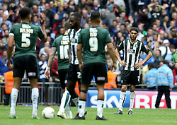 Plymouth Argyle players look frustrated after conceding a second goal - Mandatory by-line: Robbie Stephenson/JMP - 30/05/2016 - FOOTBALL - Wembley Stadium - London, England - AFC Wimbledon v Plymouth Argyle - Sky Bet League Two Play-off Final