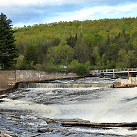 Rumford Falls on the Androscoggin River in Rumford, Maine<br />
