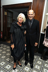 Designer BETTY JACKSON and her husband DAVID COHEN at Vogue's Celebation of Fashion dinner held at The Albermarle, Brown's Hotel, Albermarle Street, London on 18th September 2008.