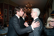 Jon Kortajarena; RICHARD BUCKLEY, Graydon Carter hosts a diner for Tom Ford to celebrate the London premiere of ' A Single Man' Harry's Bar. South Audley St. London. 1 February 2010