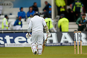 Sri Lanka Rangana Herath   trudges off after England & Middlesex bowler Steven Finn  took his wicket during day 3 of the first Investec Test Series 2016 match between England and Sri Lanka at Headingly Stadium, Leeds, United Kingdom on 21 May 2016. Photo by Simon Davies.