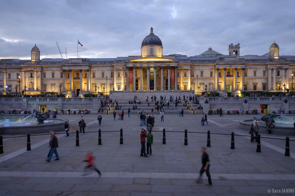 National Gallery, Trafalgar Square, London, England, UK, Europe