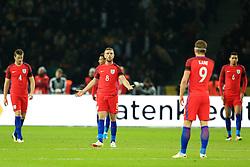 Englands Jordan Henderson reacts after England conceded the 2nd goal - Mandatory by-line: Matt McNulty/JMP - 26/03/2016 - FOOTBALL - Olympiastadion - Berlin, Germany - Germany v England - International Friendly