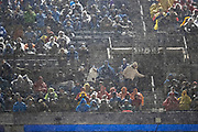 NASHVILLE, TN - DECEMBER 30:  Fans of the Tennessee Titans sit in the up deck in the rain during a game against the Indianapolis Colts at Nissan Stadium on December 30, 2018 in Nashville, Tennessee.  The Colts defeated the Titans 33-17.   (Photo by Wesley Hitt/Getty Images) *** Local Caption ***
